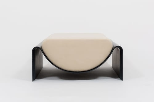 Benches & Ottomans by Asa Pingree seen at Private Residence, Bridgehampton - Eclipse Ottoman