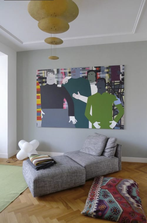 Paintings by Anuli Croon seen at Private Residence, The Hague - Table V