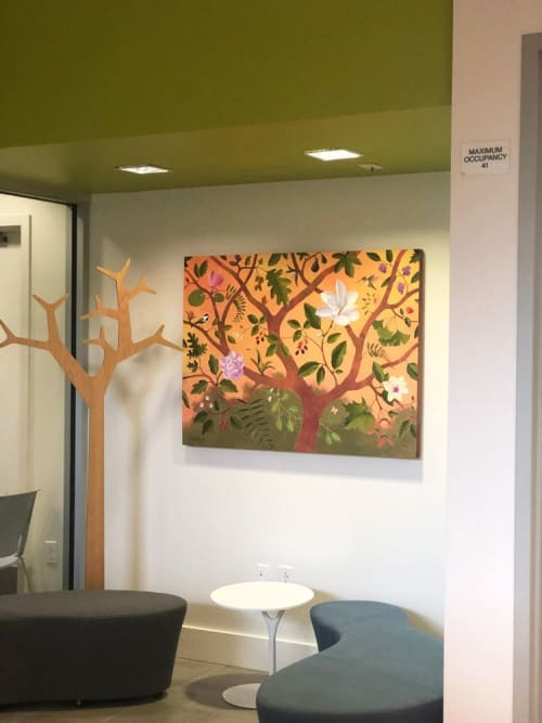 Paintings by Fred Lisaius seen at Verdant Health Commission, Lynnwood - Verdant