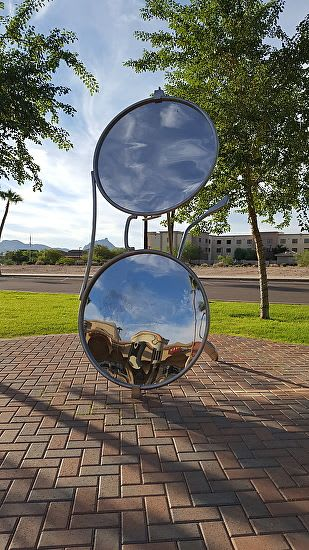 "Public Sculptures by ""Big Blue"" seen at East Avenue of the Fountains, Fountain Hills - Selfie Gate"