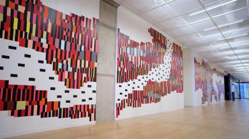 Murals by Jason Andrew Turner seen at Comcast Technology Center, Philadelphia - Monomyth Mural