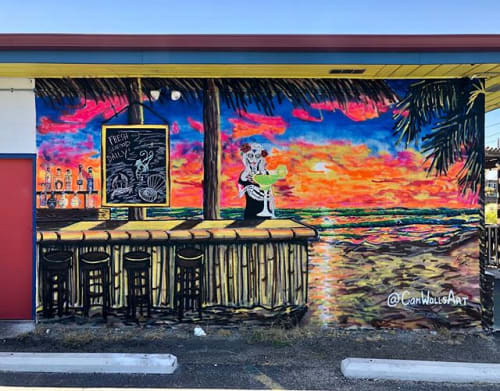 Murals by CamWallsArt seen at La Playa MEXICAN GRILLE, Port Aransas - La Playa wall