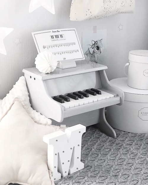Art & Wall Decor by The Baby Sketch seen at Christine Hoel's Home, Lillestrøm - Kid's Piano