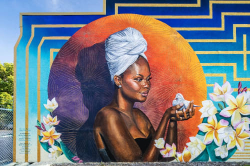 Murals by Maureen Hudas seen at 814 W Church St, Orlando - Community Mural