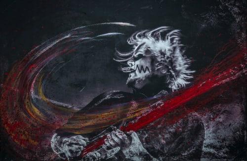 Paintings by Pete Kasprzak seen at Private Residence, Calabasas - Rock Ink. - John 5