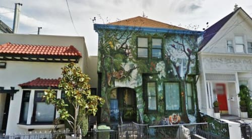 Street Murals by Lindsey Millikan (Milli) seen at Private Residence, San Francisco - Jungle House
