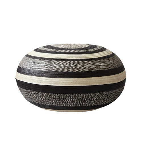 Benches & Ottomans by l'aviva home seen at Private Residence, West Hollywood - Caña Flecha Poufs, Graño de Arroz