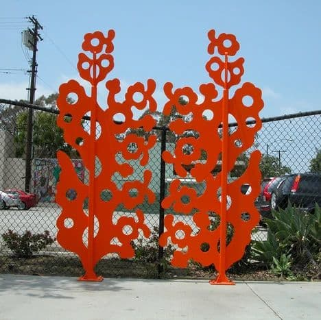Public Sculptures by Trace 'Tres' Fukuhara seen at Atlantic Avenue & East Hill Street, Long Beach - Peace Gate