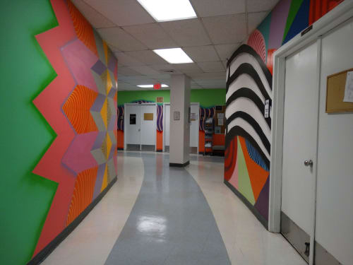 Murals by Jorge-Miguel Rodriguez seen at Broward College - A. Hugh Adams Central Campus, Davie - Performing Arts Center
