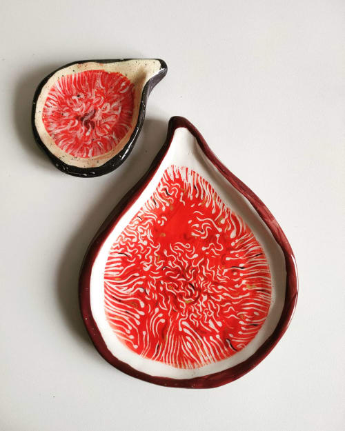 Ceramic Plates by Federica Massimi Ceramics seen at Private Residence, Roma - Fig plate