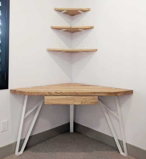 Tables by Atla seen at Private Residence, Boulder - Custom Corner Desk