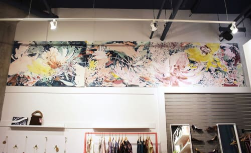 Paintings by Christina Kwan seen at COCO + MISCHA, Atlanta - Acrylic ink watercolor painting