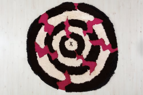 Rugs by Odabashian (official) seen at Hales Gallery, London - Teenage Mound Pelts - Trenton Doyle Hancock