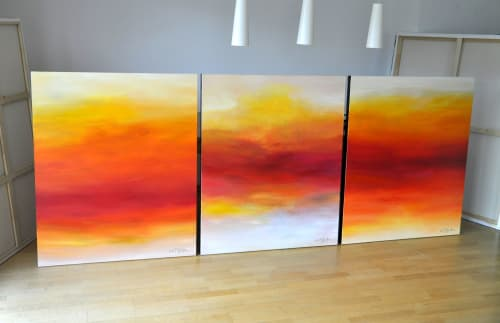 Paintings by CHRISTIAN BAHR seen at Private Residence, Toronto - THE LIVING AND THE DEAD (triptych)