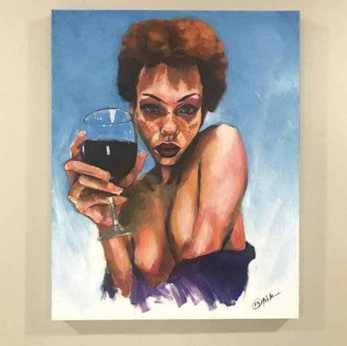 """Paintings by Brian """"BNick"""" Nickson seen at Private Residence, Los Angeles - Wine Fine"""