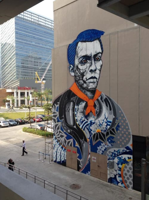 Street Murals by Doppel seen at Bonifacio High Street - Central Square, Taguig - Andres Bonifacio Mural