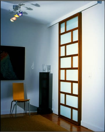 Furniture by Brian Cullen Furniture seen at Private Residence, New York - Interlocking Sliding Doors