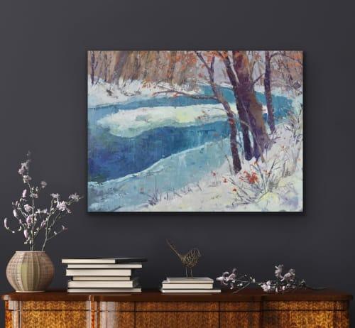 Paintings by David Williams Art seen at Creator's Studio, Gloucester - Flow