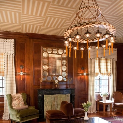 Chandeliers by Lutyens Furniture & Lighting seen at Private Residence, New York - Concentric Hoop Chandelier