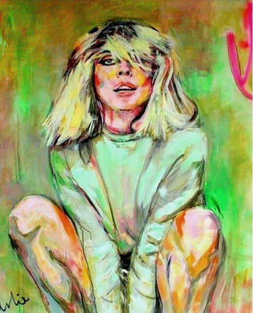 Paintings by Liesbeth Serlie seen at Private Residence, Heesselt - Deborah Harry