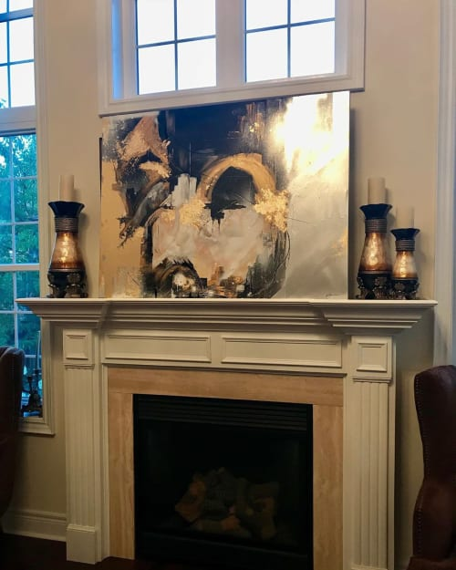 Paintings by Tetyana Bibik seen at Private Residence, Toronto - August Summers