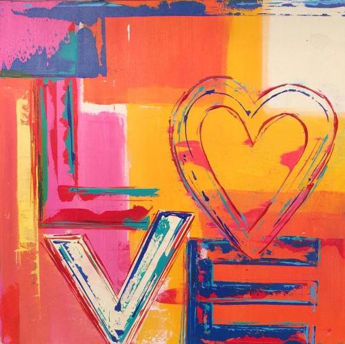 Paintings by Ben Bonart seen at Ben Bonart Art & Design LLC, Nyack - ALL AMERICAN and LOVE HEART