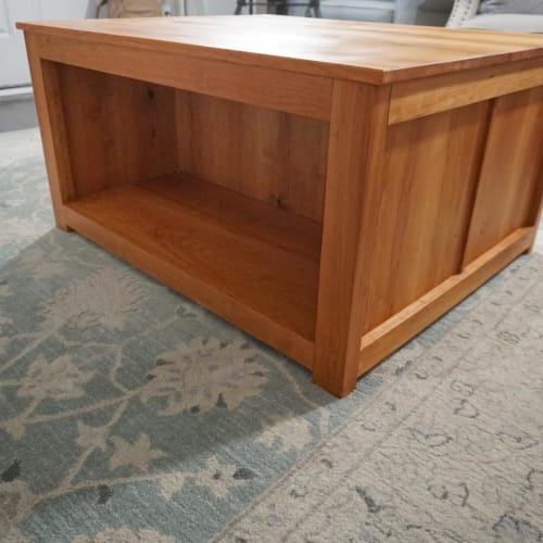 Tables by Walker & Wood seen at Private Residence, Nashville - Cherry Coffee Table