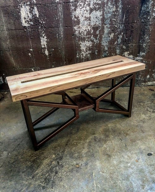 Benches & Ottomans by Breclaimed seen at Chicago, Chicago - Cherry entry bench