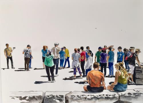 Paintings by Arran Harvey seen at San Francisco, San Francisco - Untitled, Vista Crowd 2