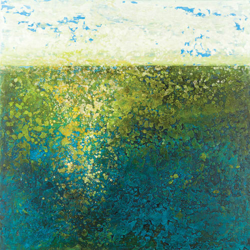 Paintings by Annie Darling seen at University of Southern Maine, Portland - Encaustic Paintings