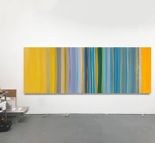 Paintings by Willy Bo Richardson seen at Artist Studio NYC, New York - Flow 3