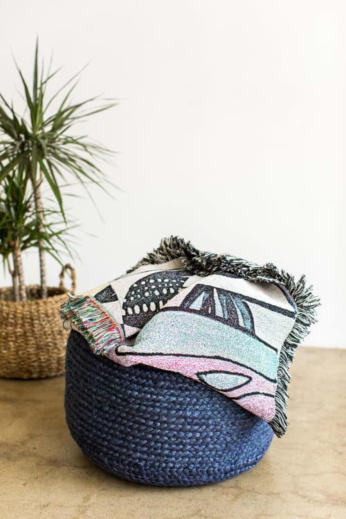 "Linens & Bedding by K'era Morgan seen at Creator's Studio, Los Angeles - ""Miro"" Woven Throw"