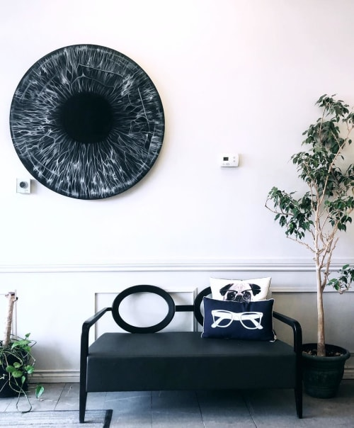 "Paintings by Morgan Abenhaim seen at Yonge Vision, Toronto - ""Eyeball"" Painting"