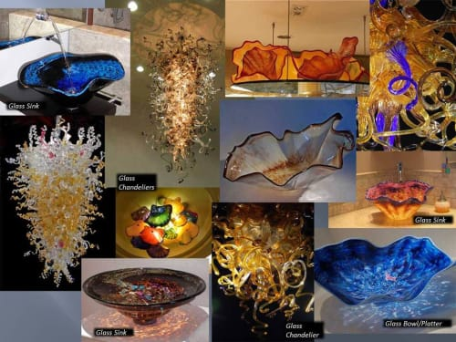 White Elk's Visions in Glass - Marty White Elk Holmes - Water Fixtures and Vases & Vessels