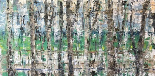 Blue in Green   Paintings by Stephanie Thwaites