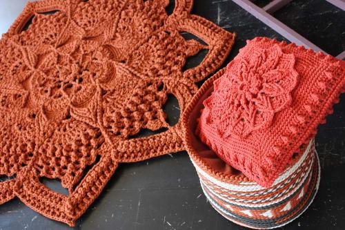"""Rugs by Lisova Oksana seen at Private Residence, Krasnodar - Crochet Rugs """"Arabesque"""""""