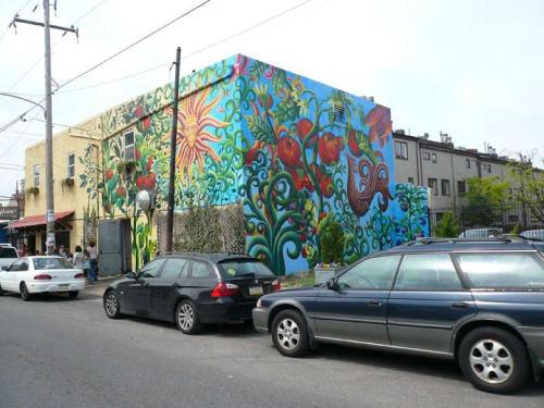 Murals by Frank Hyder Studios seen at Honey's Sit 'N Eat, Philadelphia - Mural
