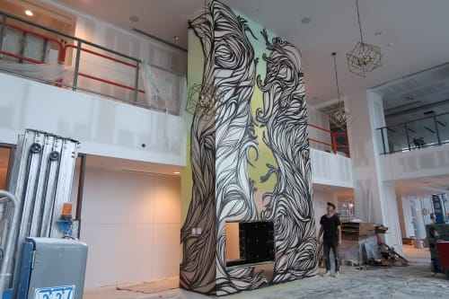 Murals by Nathan Brown at 505 Tower, Nashville - 505 Tower mural