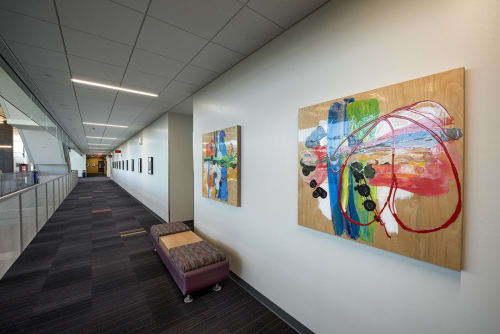 Paintings by Mary Zeran seen at Kirkwood Community College: The Kirkwood Regional Center at the University of Iowa, Coralville - Kirkwood Regional Center Art Installations