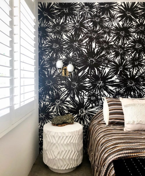 Wallpaper by FliePaper seen at Private Residence, Los Angeles - Custom PomPom