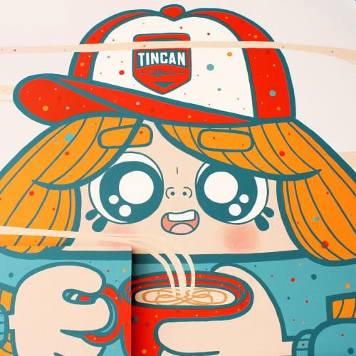 Murals by Ejits seen at Tincan Coffee Co., Bristol - Tincan Coffee Co. Mural