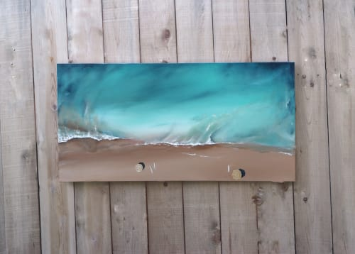 """Paintings by Bree Brooks Art seen at Private Residence, Encinitas - """"Lively Seas"""""""