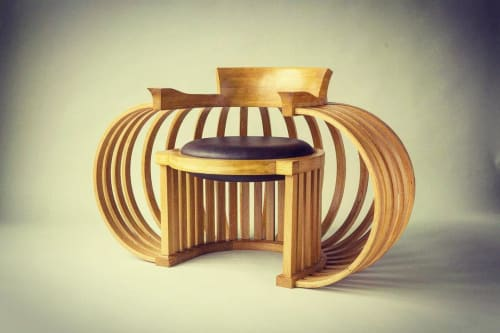 Chairs by Reid Eric Anderson seen at Museum of Wisconsin Art, West Bend - Torus Chair