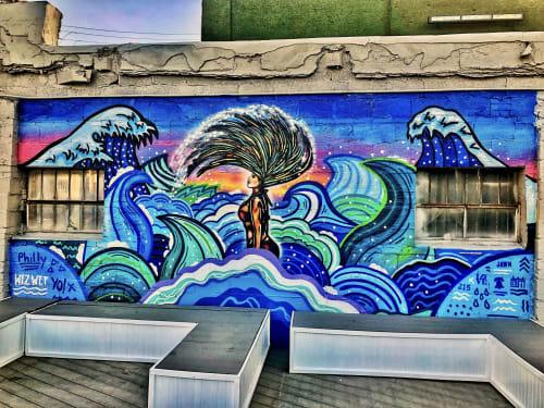 Street Murals by Alloyius Mcilwaine Art seen at Vesper Dayclub, Philadelphia - Vesper Dayclub Mural