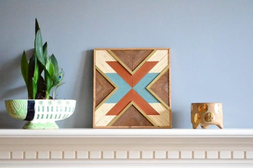 Wall Hangings by Sweet Home Wiscago seen at Private Residence, Chicago - X-Patterned Wood Art