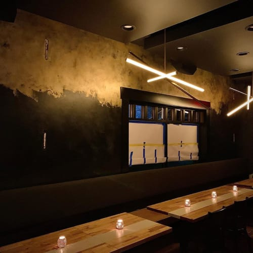 Murals by Kevin Garbacz seen at Milwalky Trace, Libertyville - Faux Finish