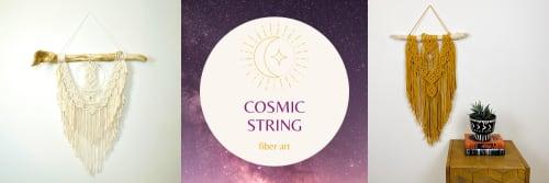 Cosmic String Fiber Art - Macrame Wall Hanging and Art