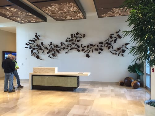 Sculptures by Zammy   Z   Migdal -studio seen at West Palm Beach, West Palm Beach - I Wish  I Can Fly