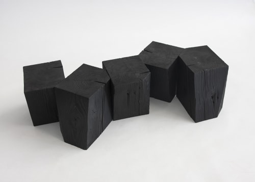 Tables by Yvonne Mouser seen at Private Residence, San Francisco - Charcoal Blocks