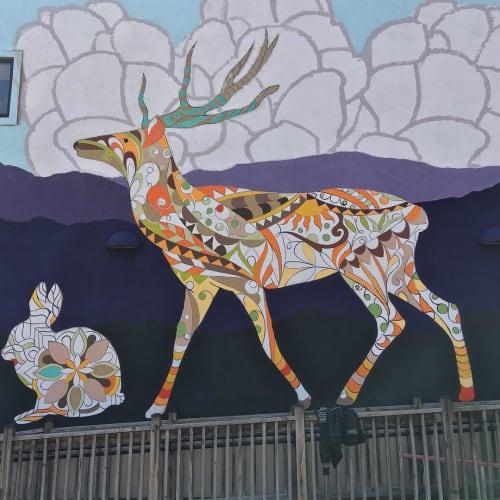 Murals by Nicholas Zimbro seen at Eavesdrop Brewery, City of Manassas - Eavesdrop Brewery Mural